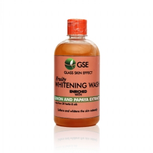 Fruity whitening body wash (with lemon and papaya extracts)